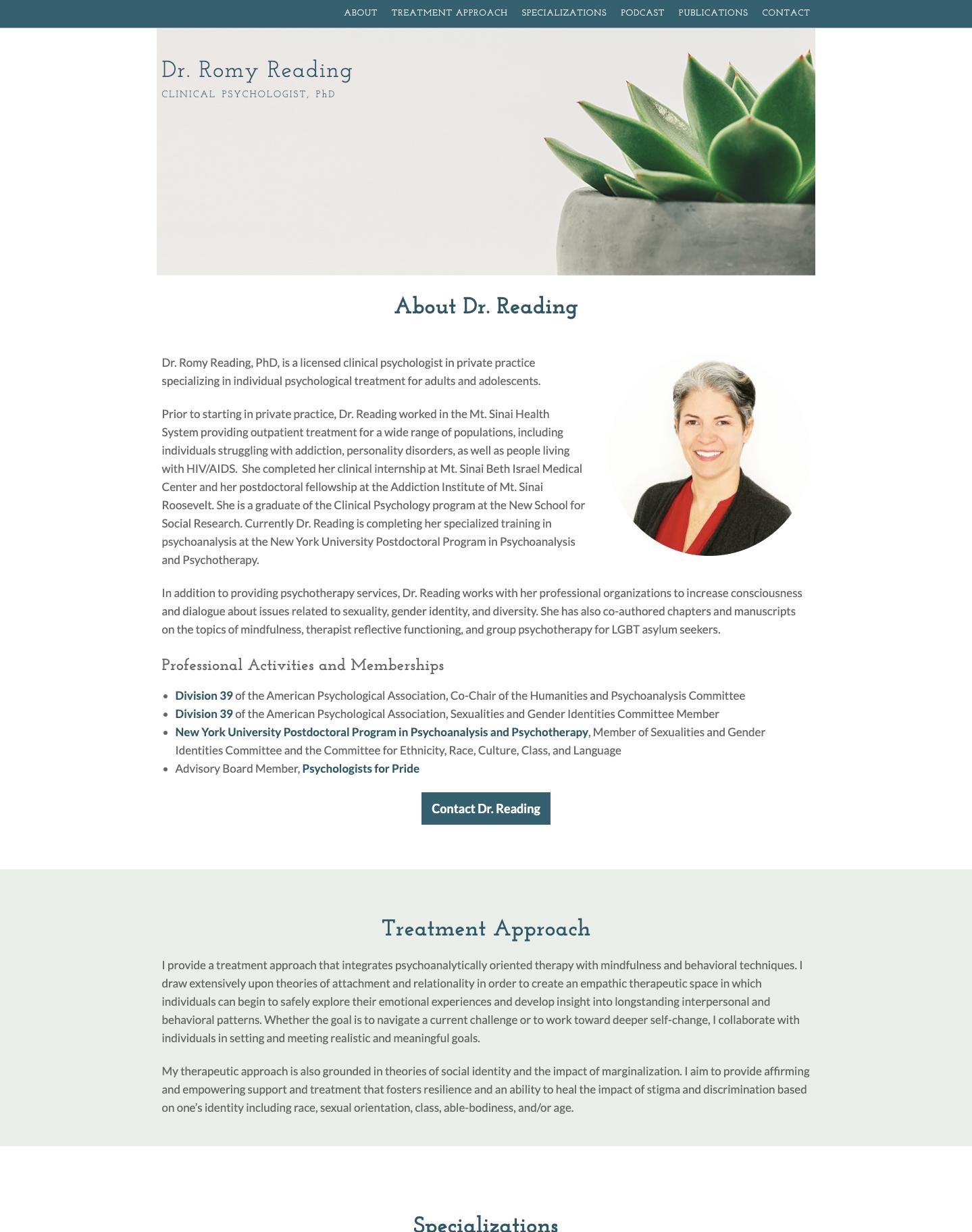 Psychologist, professional website
